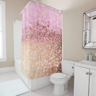 Luxus funkelnde rosa Ombre Glitzer-Steigung Duschvorhang