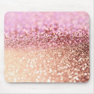 Luxus funkelnde rosa Ombre Glitzer-Steigung Mousepad
