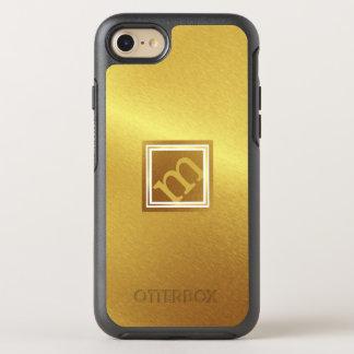 Luxus gebürstetes Gold mit gerahmtem winkligem OtterBox Symmetry iPhone 8/7 Hülle