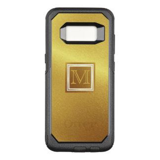 Luxus gebürstetes Gold mit Monogramm OtterBox Commuter Samsung Galaxy S8 Hülle