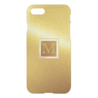 Luxus gebürstetes Goldmetall mit Monogramm iPhone 8/7 Hülle