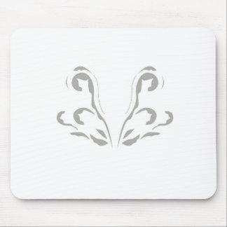 Luxus verziert graues Weiß Mousepad