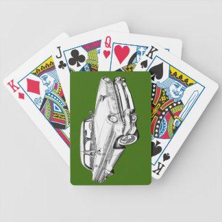 Luxusauto-Illustration 1955 Lincolns Capri Bicycle Spielkarten