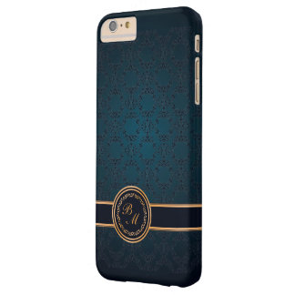 Luxusdamast-Vintage Initialen Barely There iPhone 6 Plus Hülle