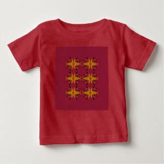 Luxusdesignert-shirt Rot mit Verzierungen Baby T-shirt