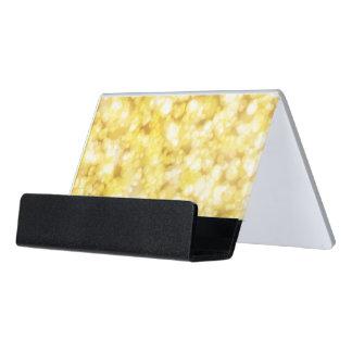 Luxusdiamant-Gold Schreibtisch-Visitenkartenhalter