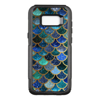 LuxusGlitter blaue aquamarine Meerjungfrauskalen OtterBox Commuter Samsung Galaxy S8+ Hülle