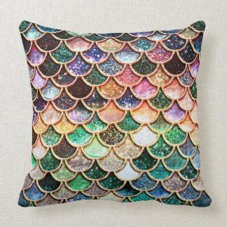 LuxusGlitter-Meerjungfrau-Skalen - Mehrfarben Kissen