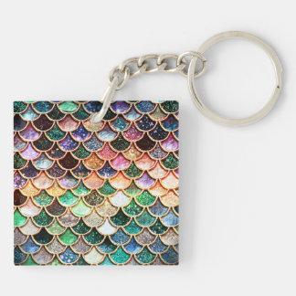 LuxusGlitter-Meerjungfrau-Skalen - Mehrfarben Schlüsselanhänger