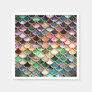 LuxusGlitter-Meerjungfrau-Skalen - Mehrfarben Serviette