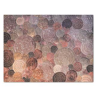 LuxusGlitzer-Punkte und Kreise - warmes Brown Seidenpapier
