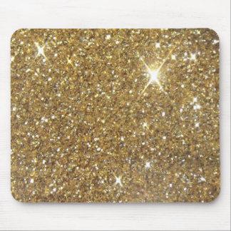Luxusgoldfunkelnder Glitter Mauspad