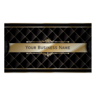 Luxusgoldgestreifte Diamant-Muster-Visitenkarte