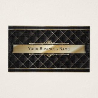 Luxusgoldgestreifte Diamant-Muster-Visitenkarte Visitenkarten