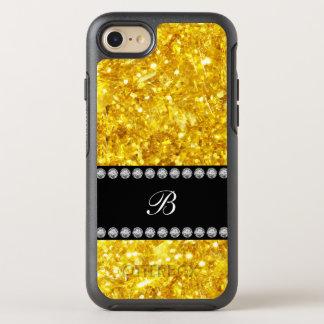 LuxusgoldImitat-Glitter-Monogramm OtterBox Symmetry iPhone 8/7 Hülle