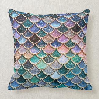 LuxusmehrfarbenGlitter-Meerjungfrau-Skalen Kissen