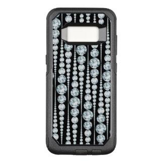 Luxusmuster mit weißen Diamant-Streifen OtterBox Commuter Samsung Galaxy S8 Hülle