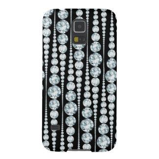 Luxusmuster mit weißen Diamant-Streifen Samsung S5 Cover