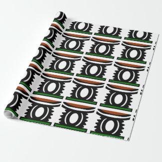 LuxusPackpapier mit Afrika-Symbol von König Geschenkpapier