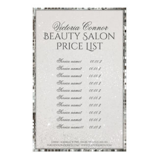 Luxusschimmer-Schönheits-Salon-Preisliste-Flyer 14 X 21,6 Cm Flyer