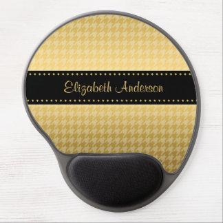 Luxusschwarz-und GoldHahnentrittmuster-Muster Gel Mouse Matte