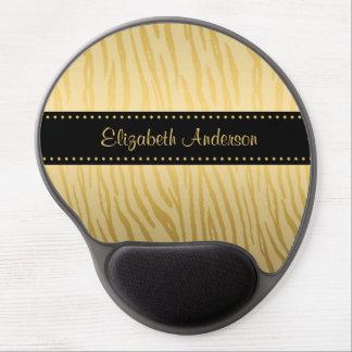 Luxusschwarz-und Goldtiger-Streifen mit Namen Gel Mouse Matte