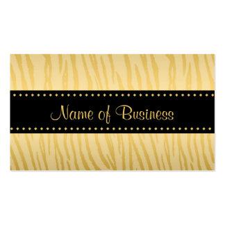 Luxusschwarz-und Goldtiger-Streifen Visitenkarten