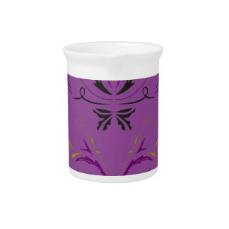 Luxusverzierungen lila krug