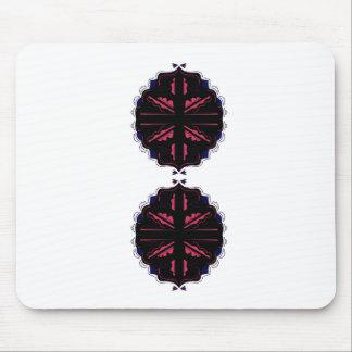 Luxusverzierungsschwarzes auf Weiß Mousepad