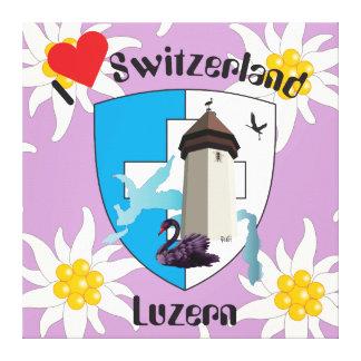 Luzern Schweiz Switzerland Leinwand