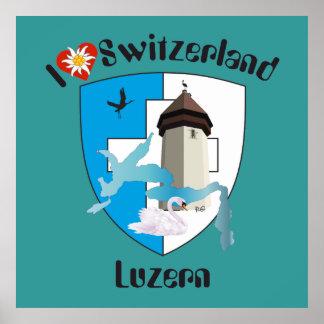 Luzern Schweiz Switzerland Poster