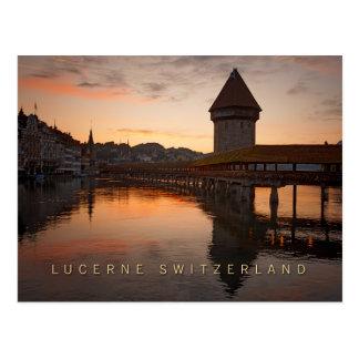 Luzerne die Schweiz am frühen Morgen Postkarte