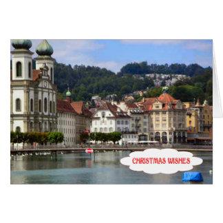 Luzerne, Jesuit-Kirche und Fluss Karte