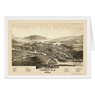 Luzerne u. Hadley, NY panoramische Karte - 1887