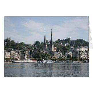 Luzerner See, Vierwaldstattersee, die Schweiz Karte