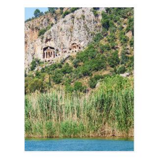Lycian Felsen-Gräber, Dalyan, die Türkei Postkarte