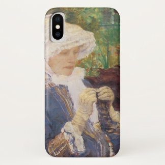Lydia, der im Garten an mergeligem, Mary Cassatt iPhone X Hülle