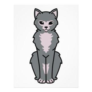 Lykoi Katzen-Cartoon Flyer
