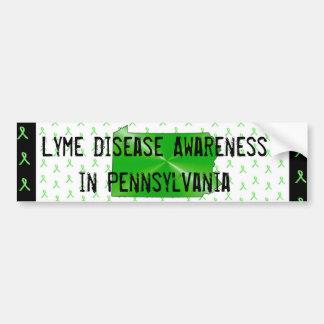 Lyme-Borreliose-Bewusstsein in Autoaufkleber