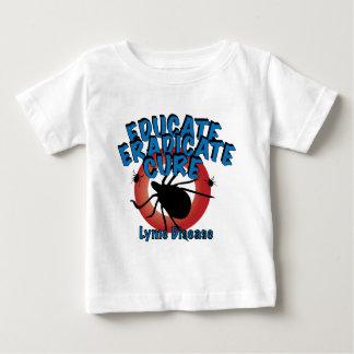 Lyme-Borreliose - erziehen Sie, rotten Sie aus, Baby T-shirt