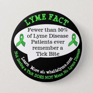Lyme-Borreliose-Tatsachen-Knöpfe für Runder Button 7,6 Cm