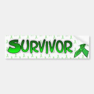 Lyme-Borreliose-Überlebend-Bewusstseins-Bänder Autoaufkleber