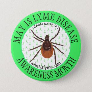 Lyme Disease Awareness Month Deer Tick Button