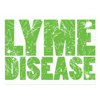 "Lyme grünen ""Lyme-Borreliose"" Entwurf mit Ticken Postkarte"