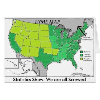 Lyme Karten-Statistik-Karte, Lyme Krankheits-Spaß Karte