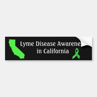 Lyme Krankheit in Kalifornien-Autoaufkleber Autoaufkleber