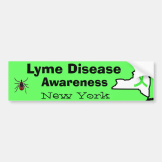 Lyme Krankheit in New- YorkAutoaufkleber Autoaufkleber