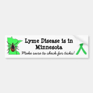 Lyme Krankheits-Bewusstsein in Autoaufkleber