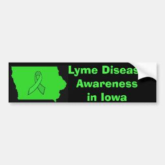 Lyme Krankheits-Bewusstsein in Iowa-Autoaufkleber Autoaufkleber