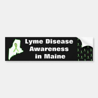 Lyme Krankheits-Bewusstsein in Maine-Autoaufkleber Autoaufkleber